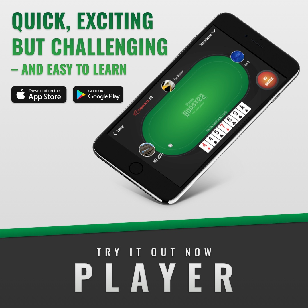 BOOST22 the card game app