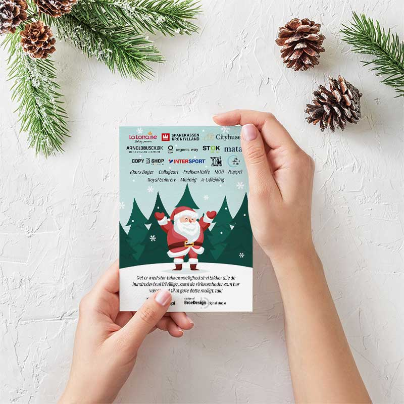 Frisør ByHolst julekort